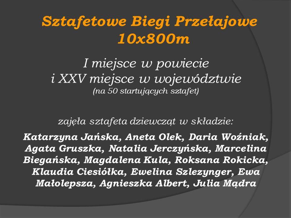 Sztafetowe Biegi Przełajowe 10x800m