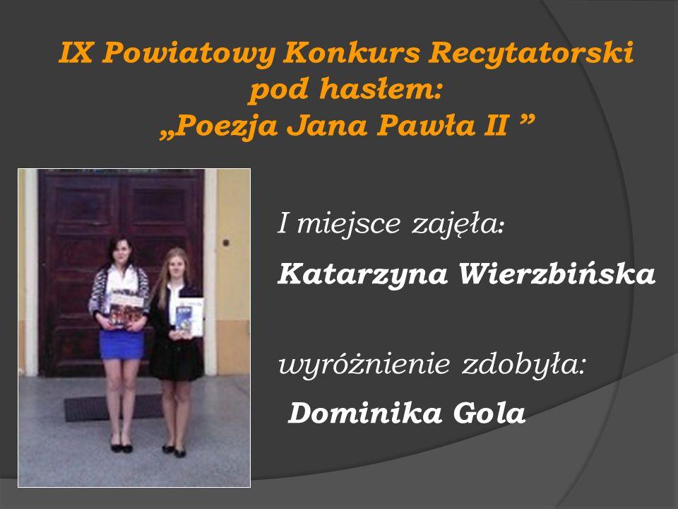 IX Powiatowy Konkurs Recytatorski