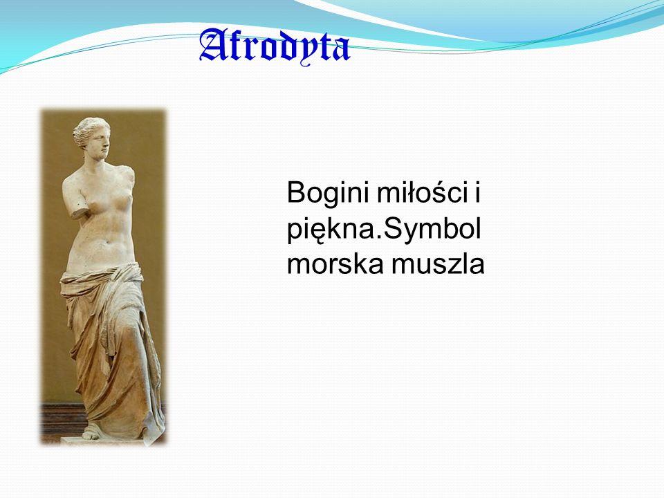 Afrodyta Bogini miłości i piękna.Symbol morska muszla