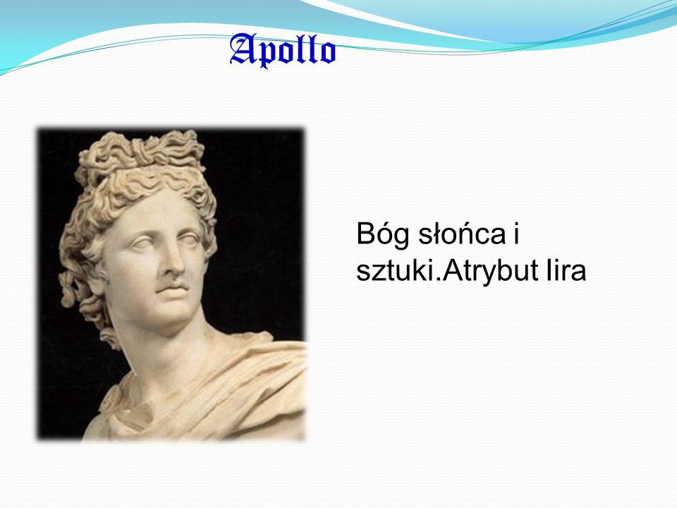 Apollo Bóg słońca i sztuki.Atrybut Iira