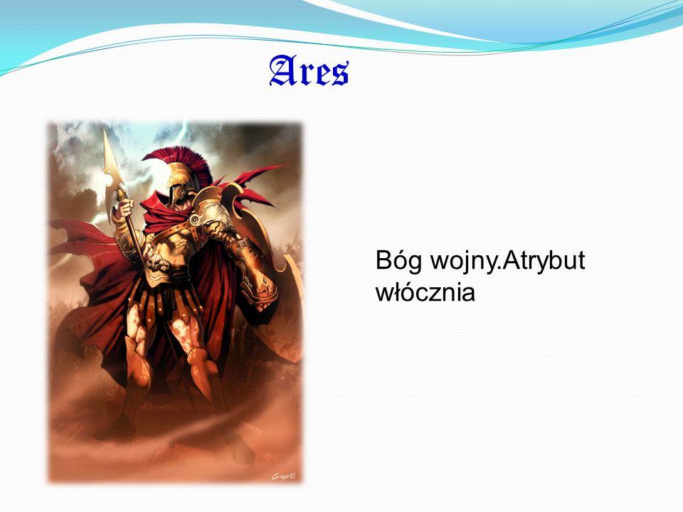 Ares Bóg wojny.Atrybut włócznia