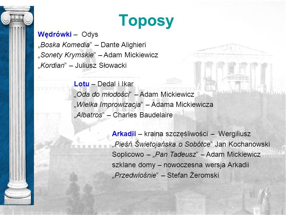 """Toposy Wędrówki – Odys """"Boska Komedia – Dante Alighieri"""