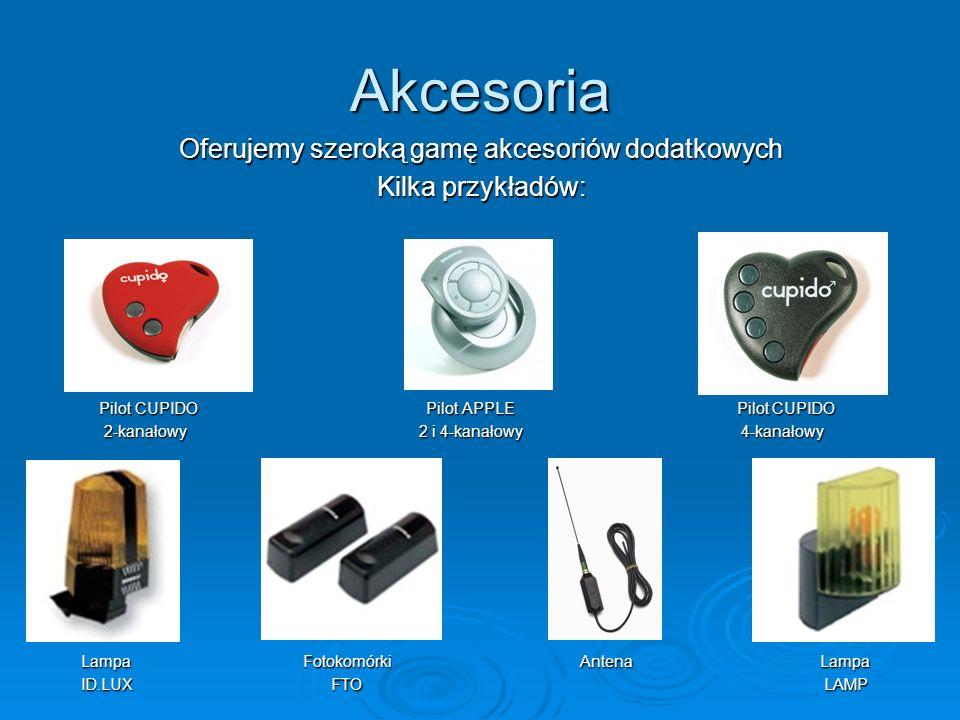 Oferujemy szeroką gamę akcesoriów dodatkowych