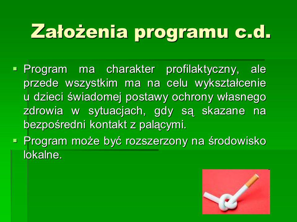 Założenia programu c.d.