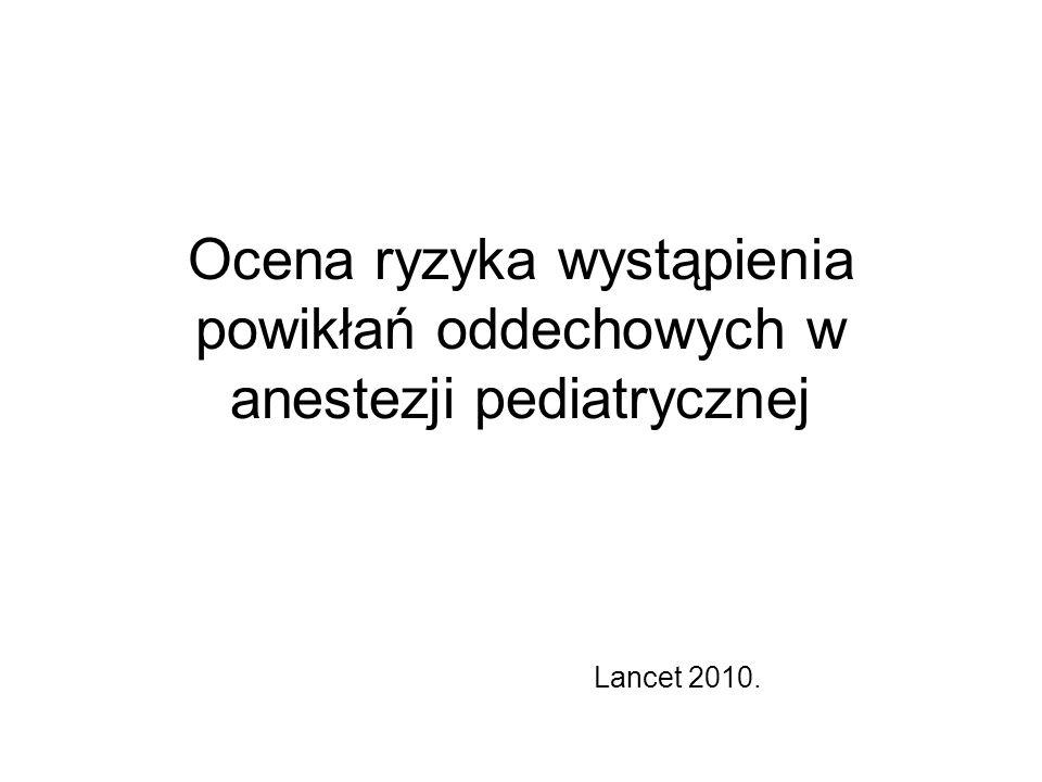 Ocena ryzyka wystąpienia powikłań oddechowych w anestezji pediatrycznej
