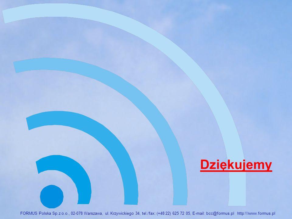 FORMUS Polska Sp. z o. o. , 02-078 Warszawa, ul. Krzywickiego 34, tel