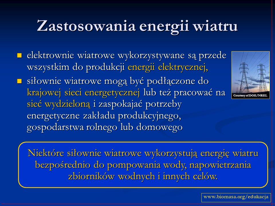 Zastosowania energii wiatru