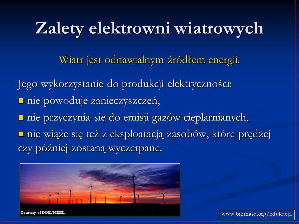 Zalety elektrowni wiatrowych