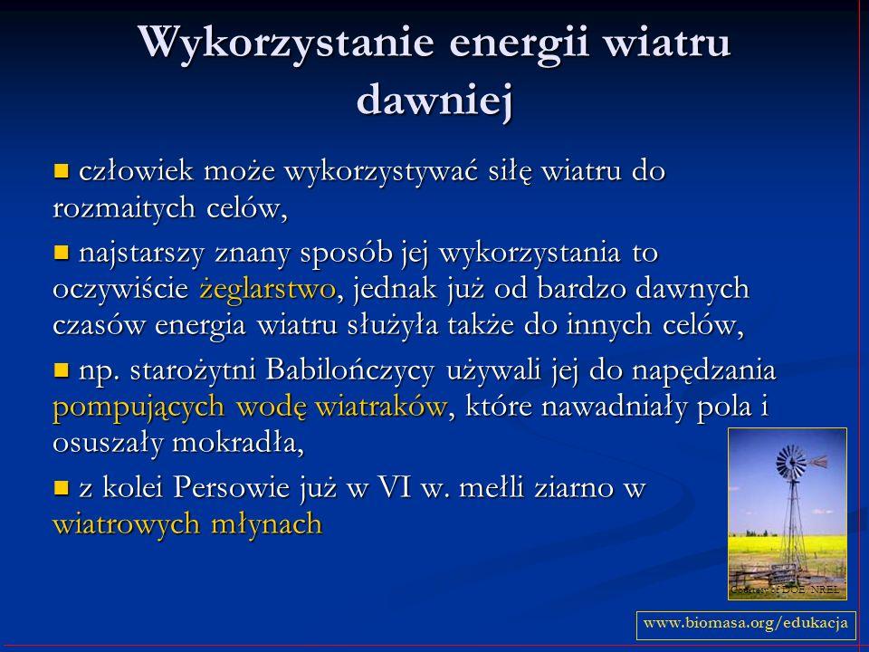 Wykorzystanie energii wiatru dawniej