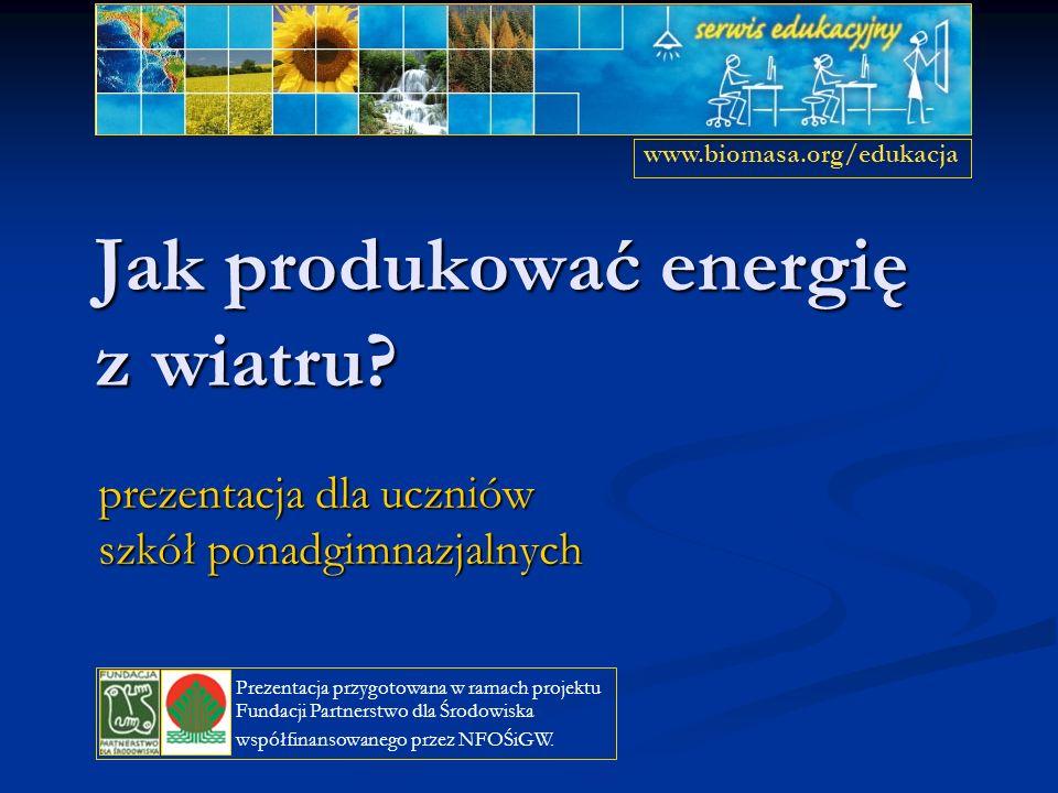 Jak produkować energię z wiatru