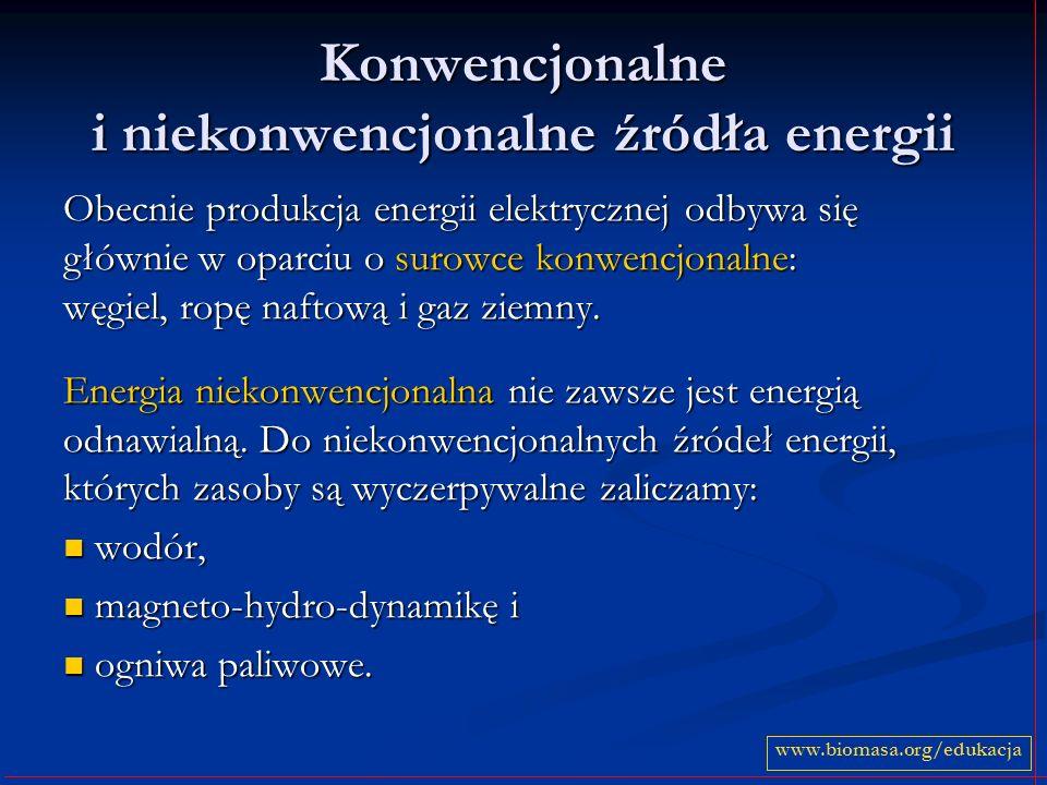 Konwencjonalne i niekonwencjonalne źródła energii