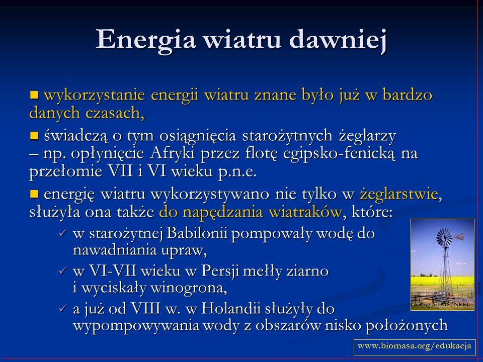 Energia wiatru dawniej