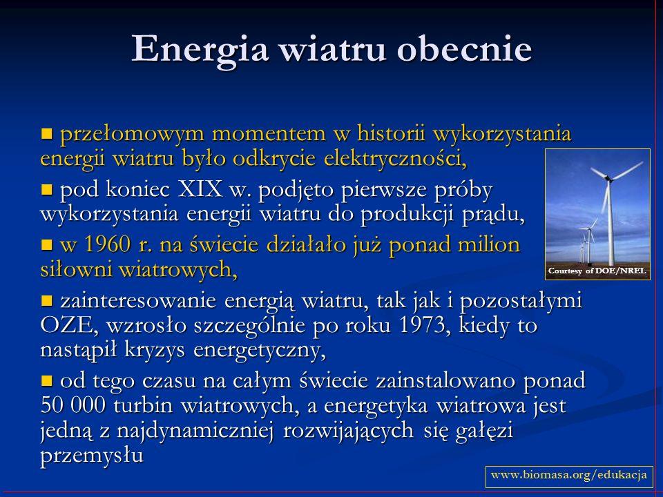 Energia wiatru obecnie
