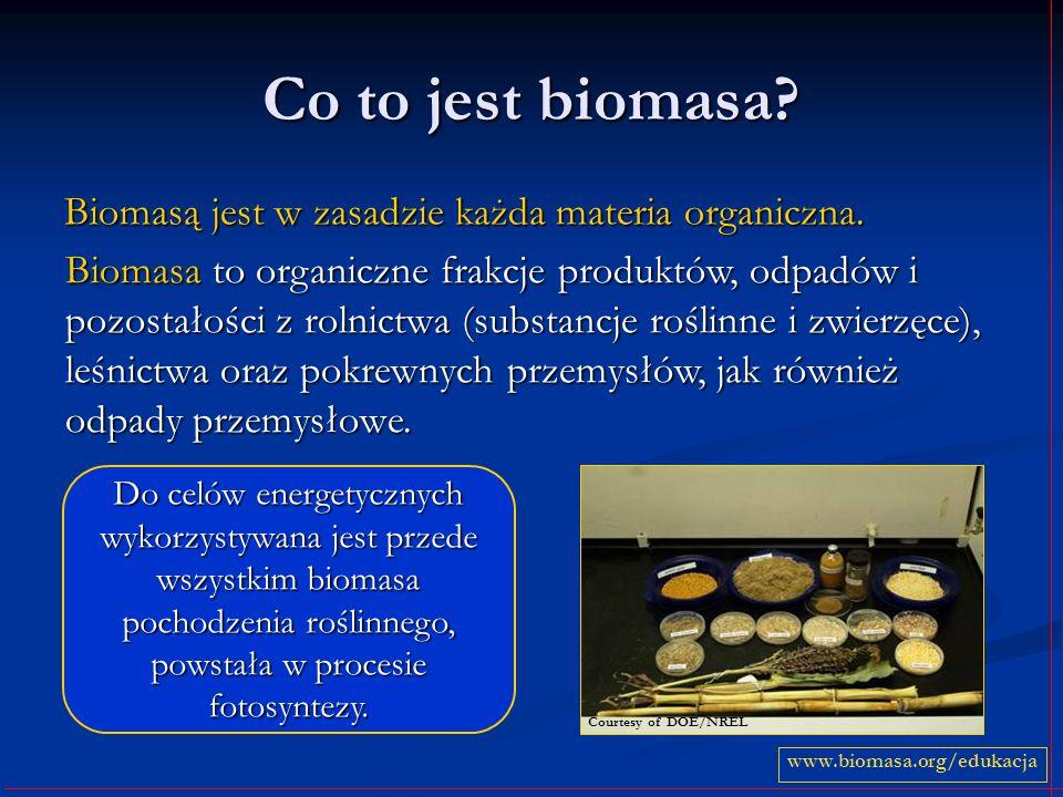 Co to jest biomasa Biomasą jest w zasadzie każda materia organiczna.