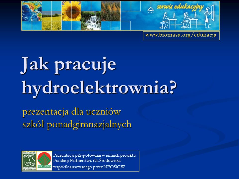 Jak pracuje hydroelektrownia