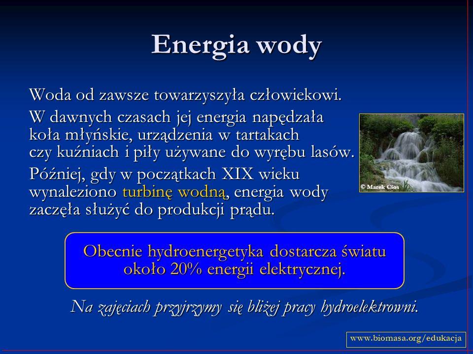 Na zajęciach przyjrzymy się bliżej pracy hydroelektrowni.