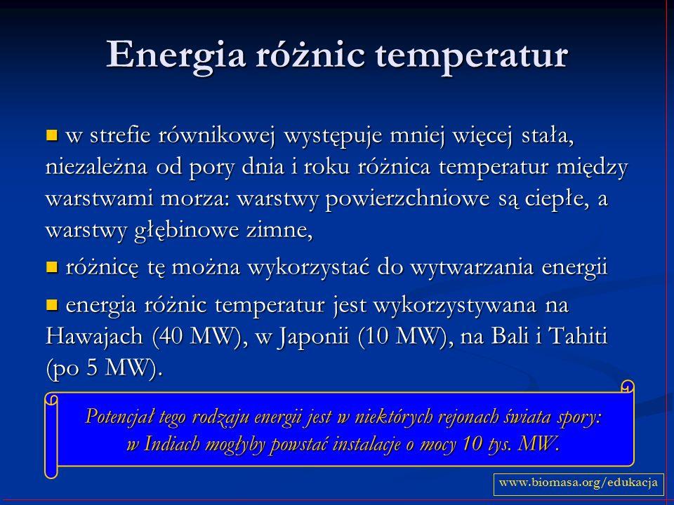 Energia różnic temperatur