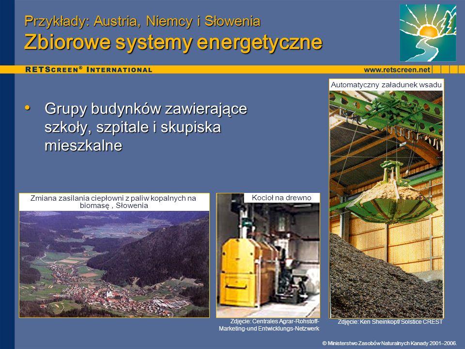 Przykłady: Austria, Niemcy i Słowenia Zbiorowe systemy energetyczne