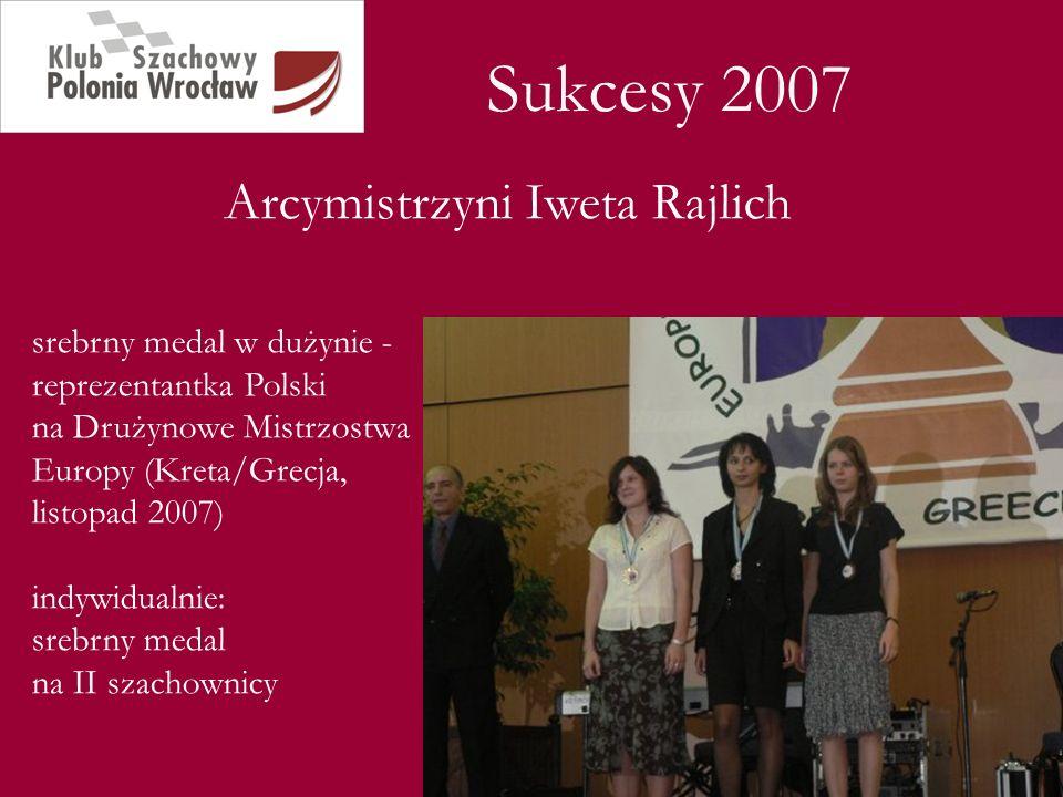 Sukcesy 2007 Arcymistrzyni Iweta Rajlich