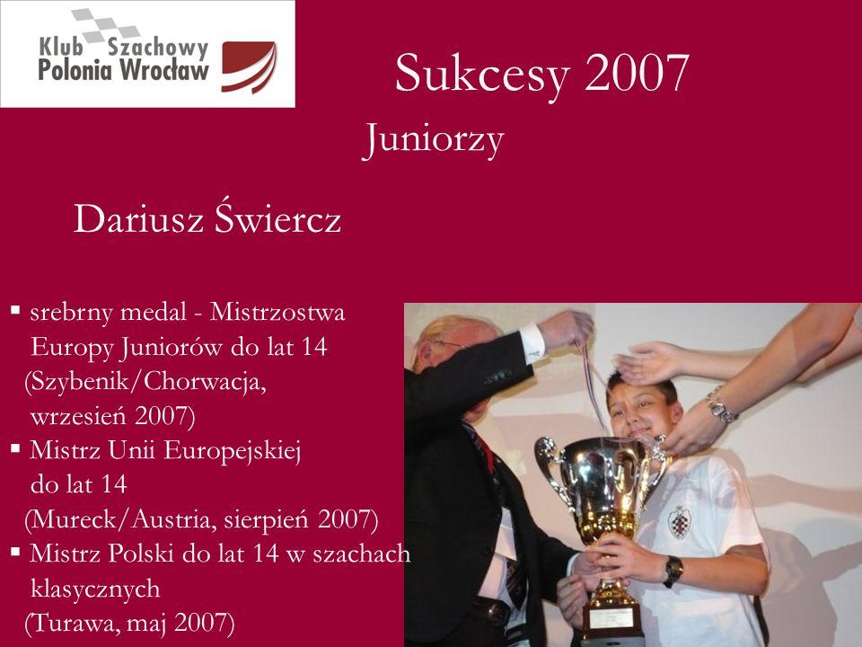 Sukcesy 2007 Juniorzy Dariusz Świercz