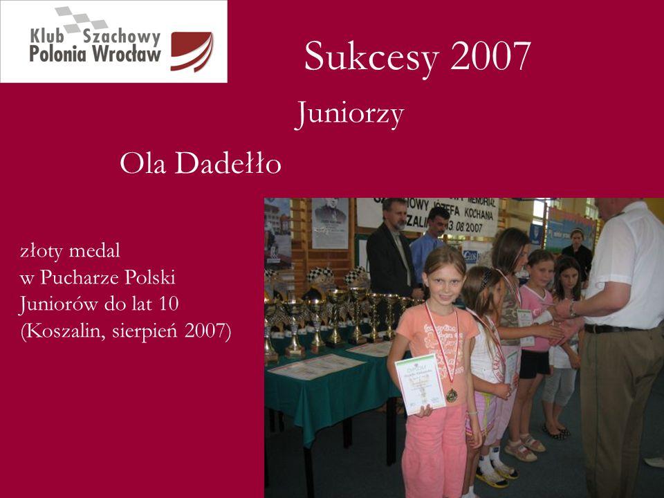 Sukcesy 2007 Juniorzy Ola Dadełło