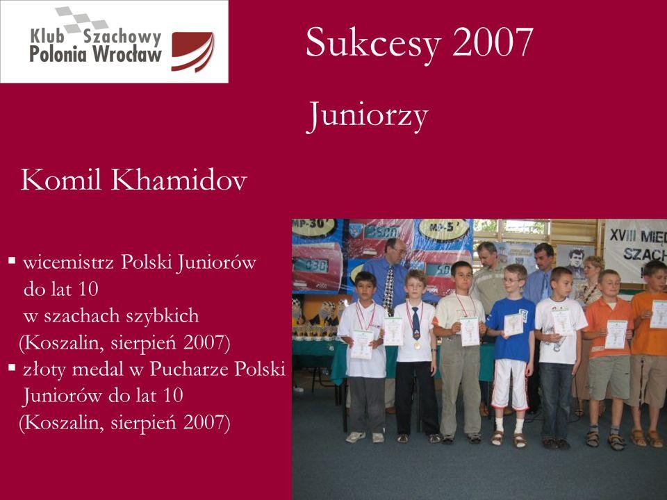Sukcesy 2007 Juniorzy Komil Khamidov
