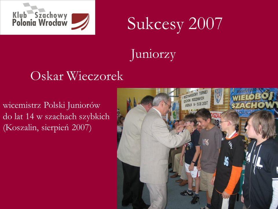 Sukcesy 2007 Juniorzy Oskar Wieczorek
