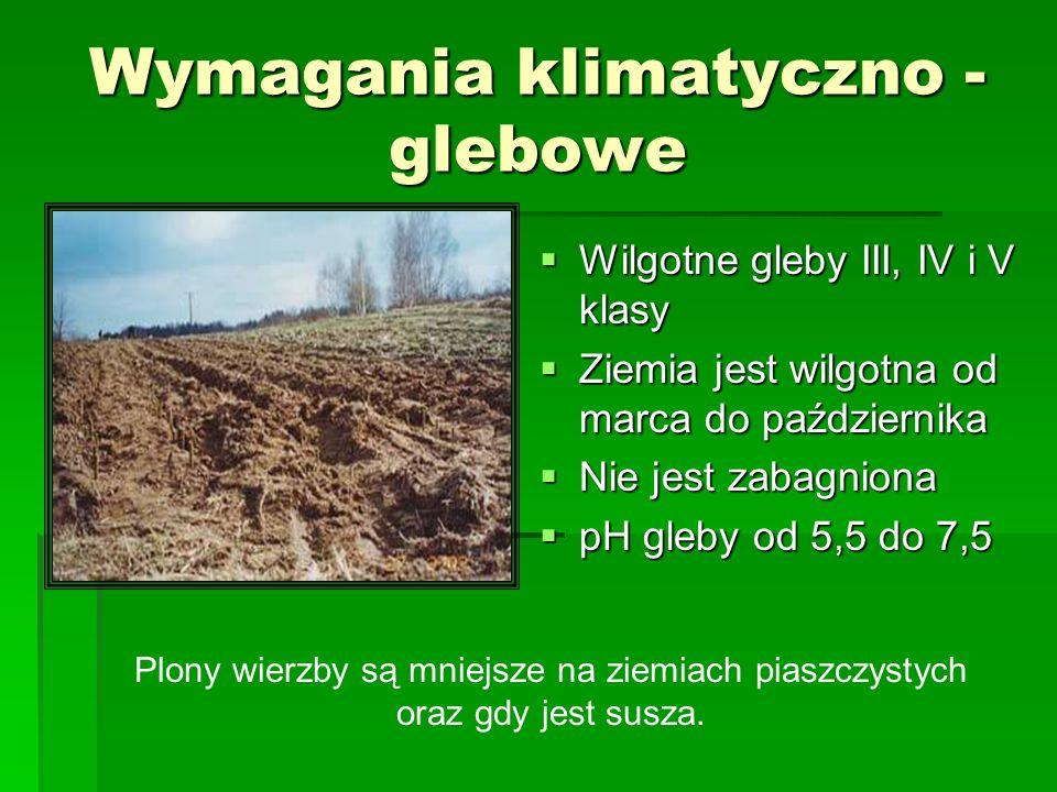 Wymagania klimatyczno -glebowe
