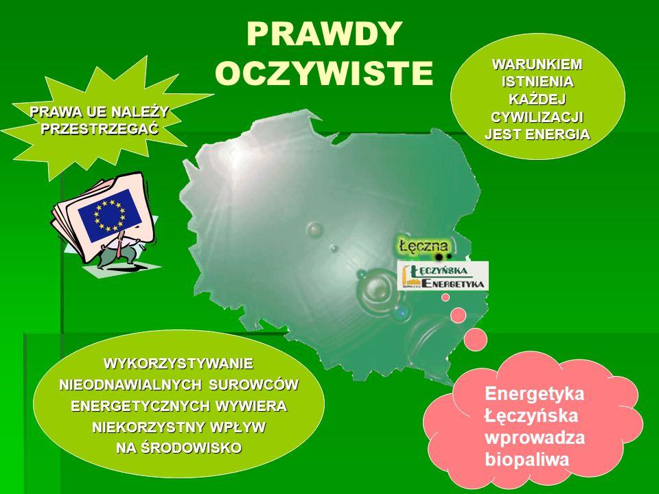 PRAWDY OCZYWISTE Energetyka Łęczyńska wprowadza biopaliwa