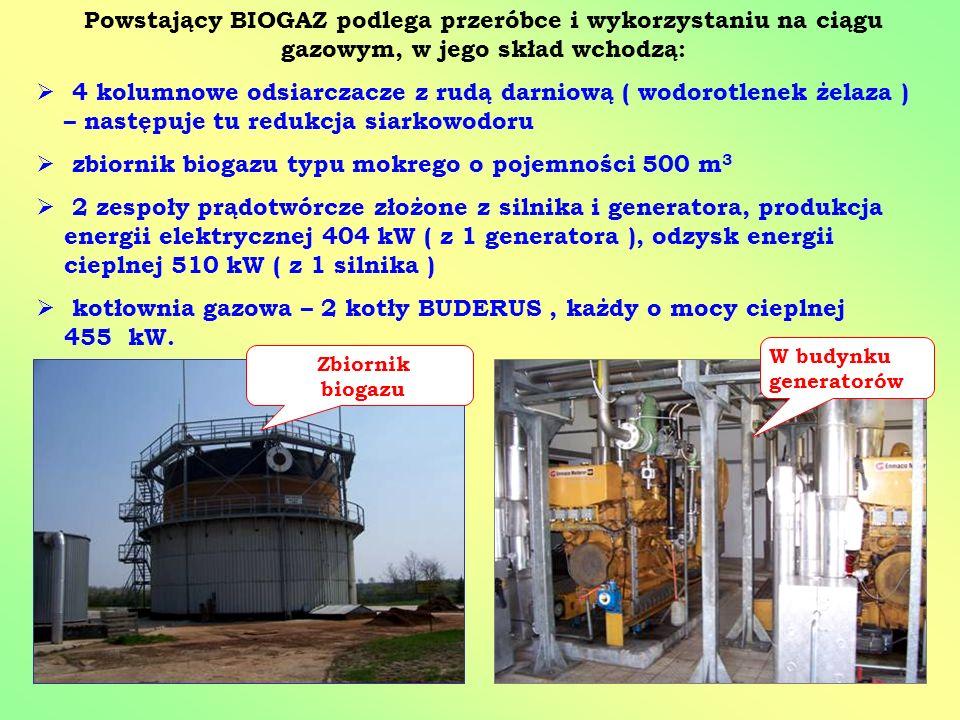 zbiornik biogazu typu mokrego o pojemności 500 m3