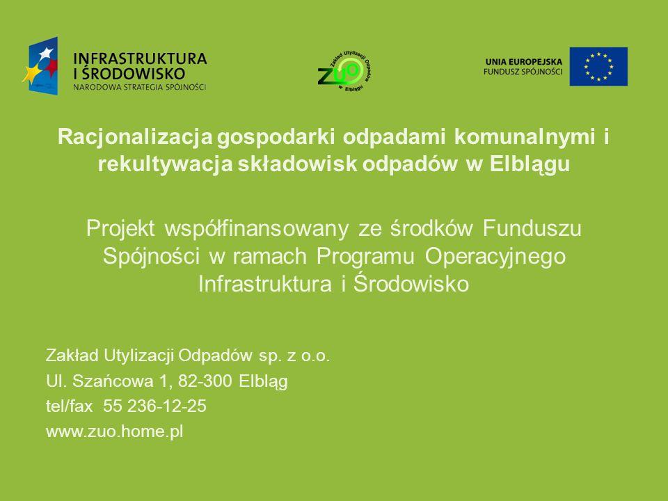 Racjonalizacja gospodarki odpadami komunalnymi i rekultywacja składowisk odpadów w Elblągu