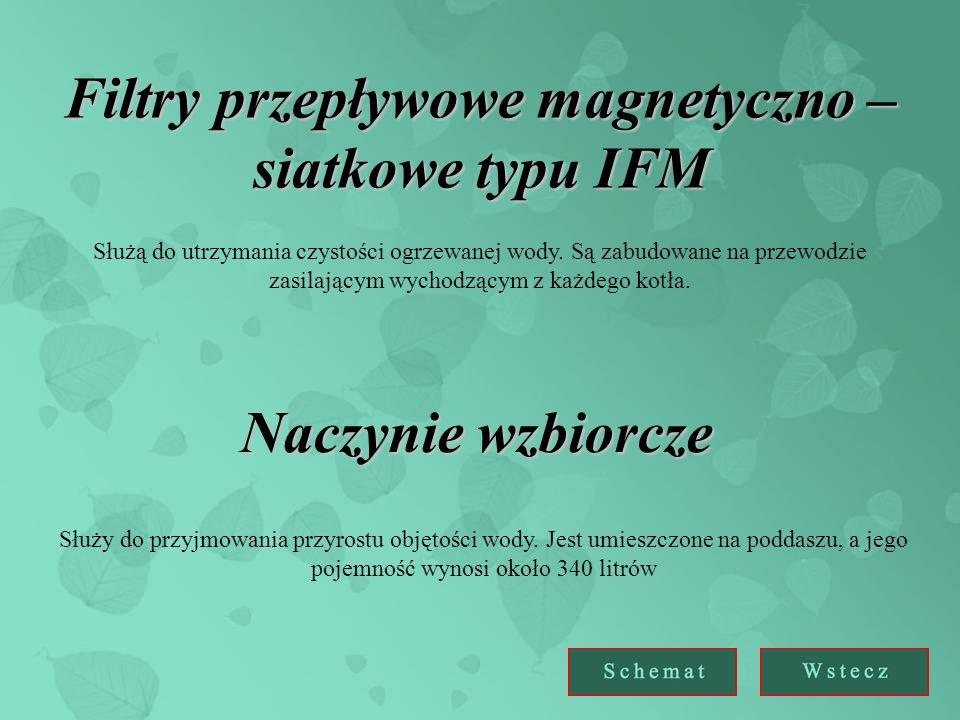 Filtry przepływowe magnetyczno – siatkowe typu IFM