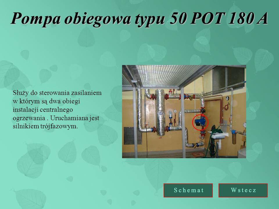 Pompa obiegowa typu 50 POT 180 A