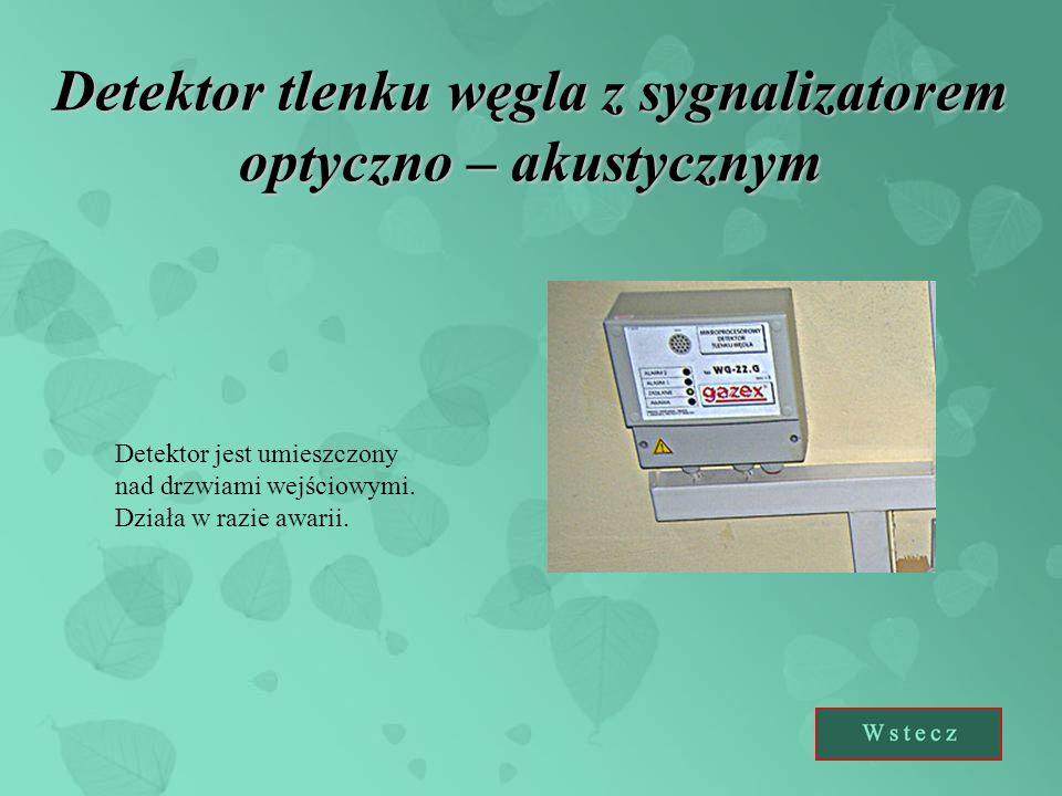 Detektor tlenku węgla z sygnalizatorem optyczno – akustycznym