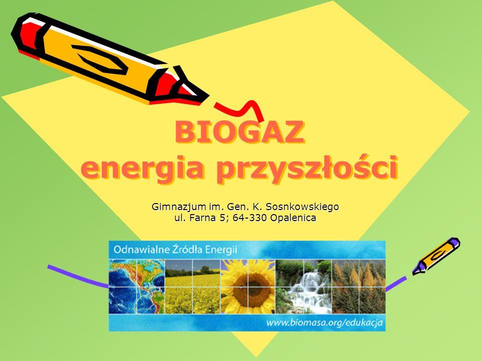 BIOGAZ energia przyszłości