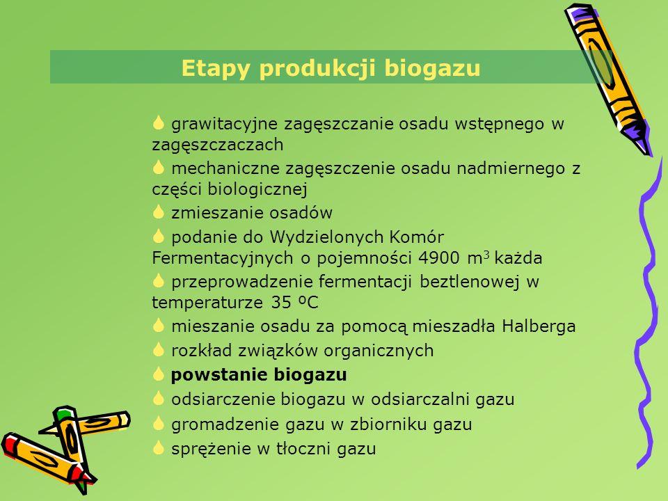 Etapy produkcji biogazu