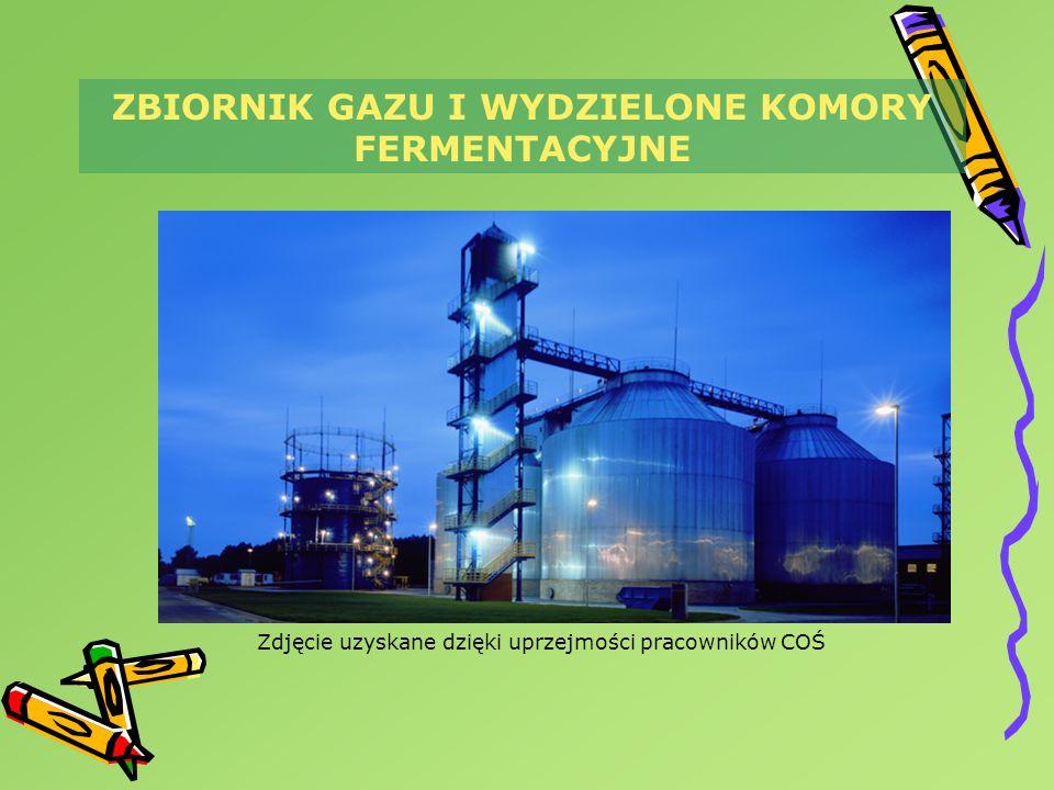 ZBIORNIK GAZU I WYDZIELONE KOMORY FERMENTACYJNE