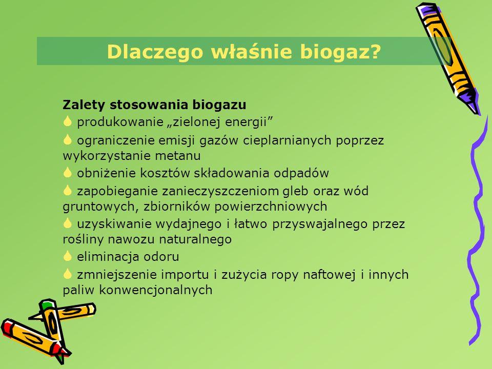 Dlaczego właśnie biogaz