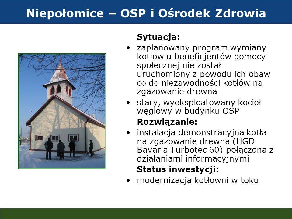 Niepołomice – OSP i Ośrodek Zdrowia