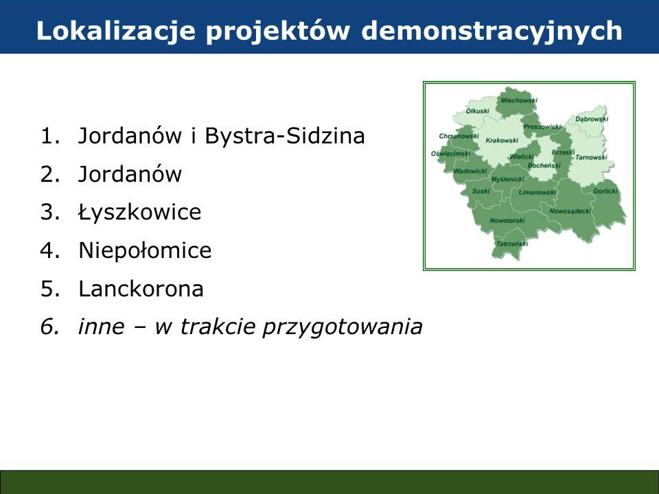 Lokalizacje projektów demonstracyjnych