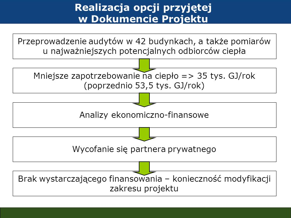 Realizacja opcji przyjętej w Dokumencie Projektu