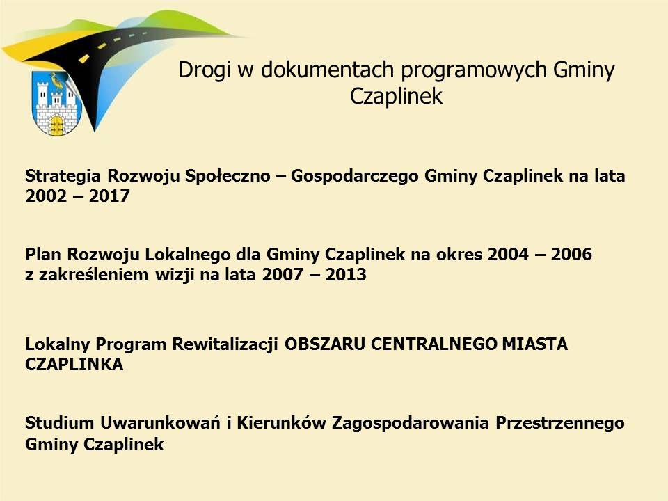Drogi w dokumentach programowych Gminy Czaplinek