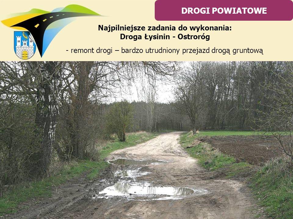 Najpilniejsze zadania do wykonania: Droga Łysinin - Ostroróg