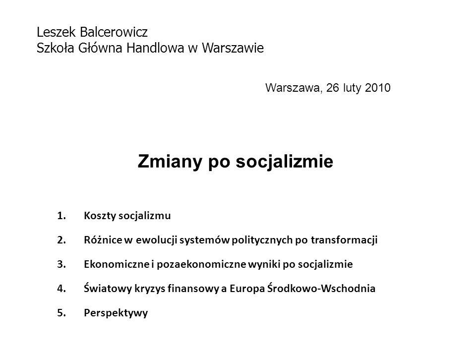 Zmiany po socjalizmie Leszek Balcerowicz
