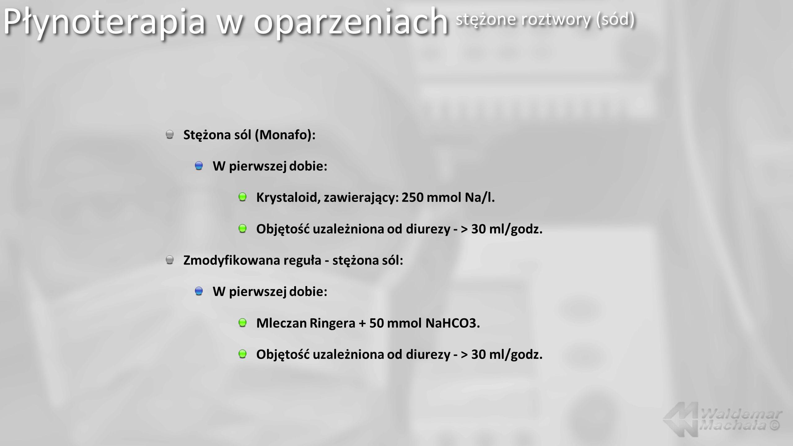 Płynoterapia w oparzeniach stężone roztwory (sód)
