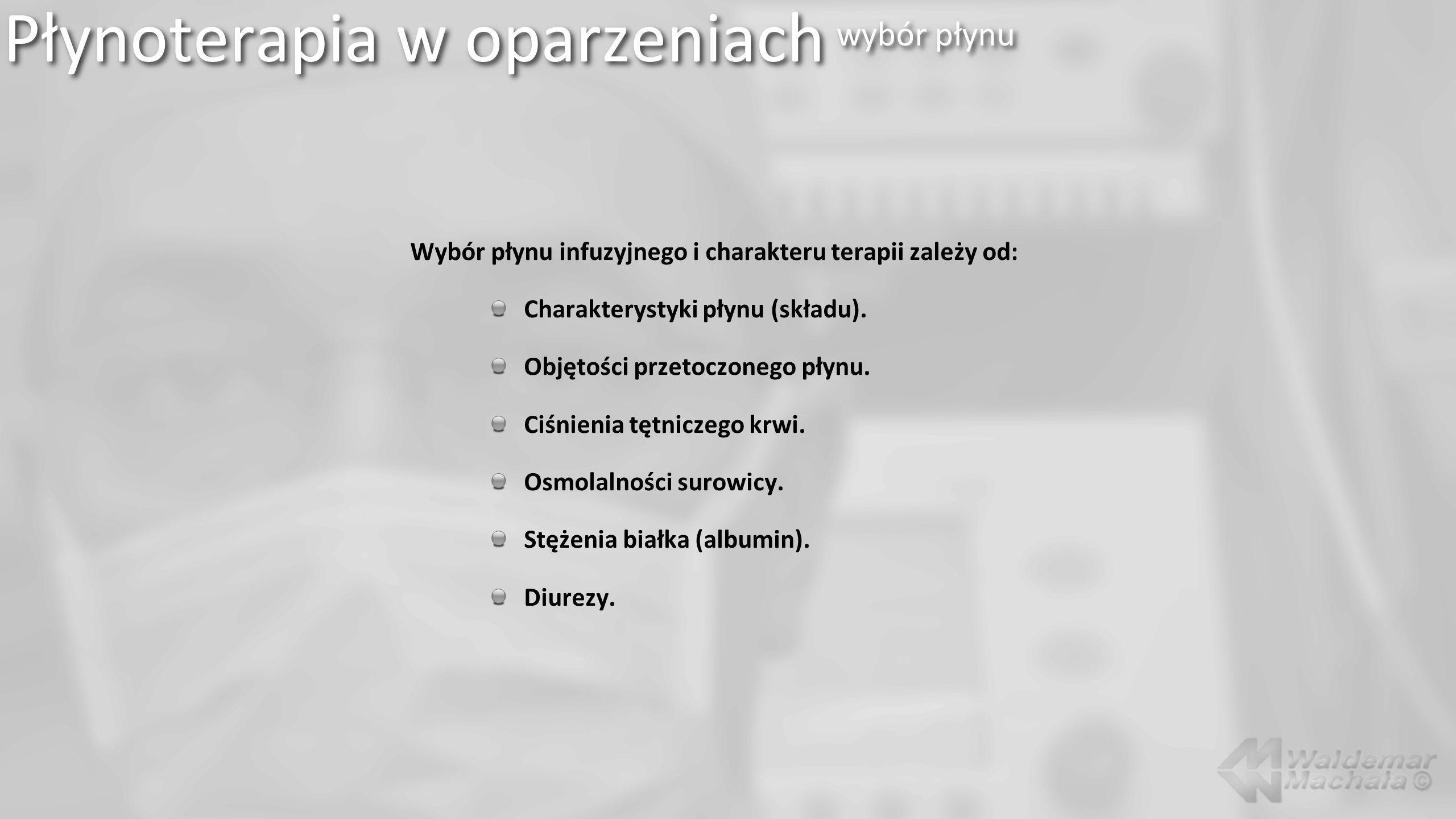 Płynoterapia w oparzeniach wybór płynu