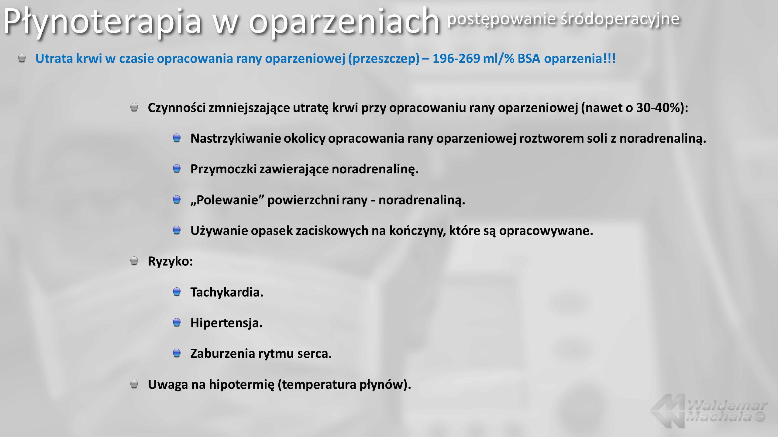 Płynoterapia w oparzeniach postępowanie śródoperacyjne