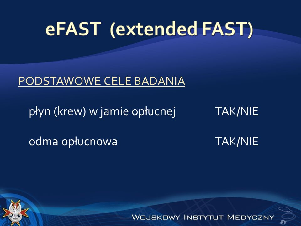 eFAST (extended FAST)