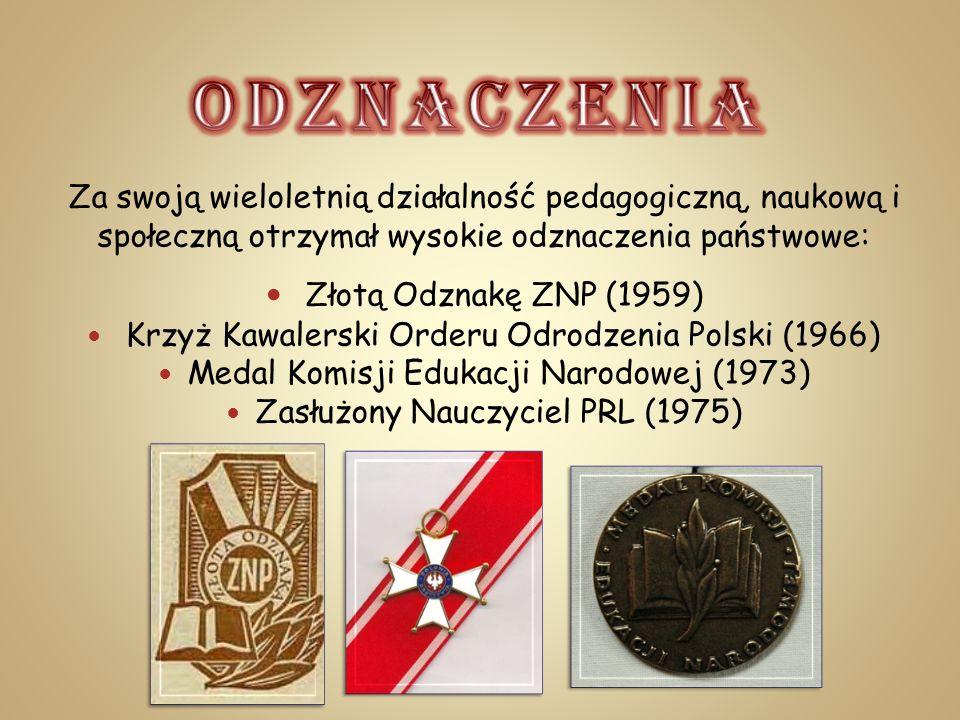 ODZNACZENIA Złotą Odznakę ZNP (1959)