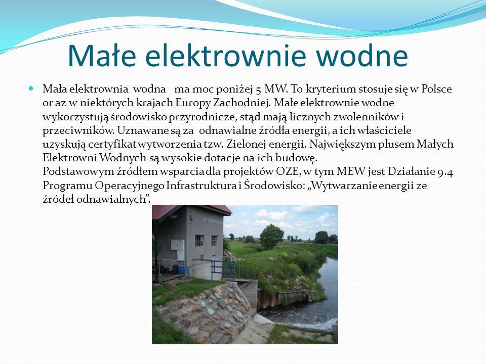 Małe elektrownie wodne
